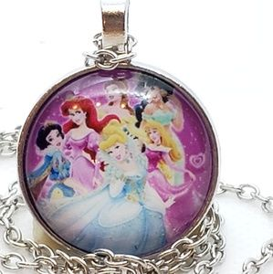 DISNEY PRINCESS Glass Tile Necklace
